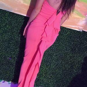 Aida Nicole Bakti Pink/Coral Maxi Dress